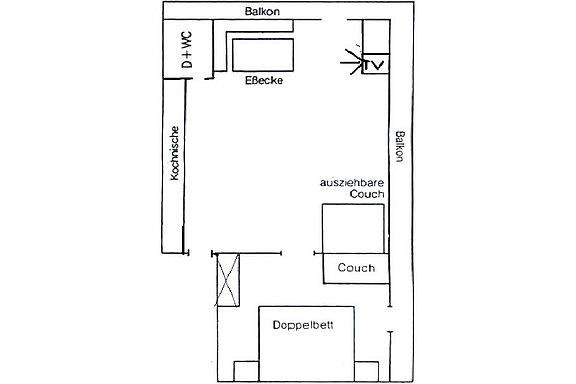 Floor plan from Apartment 1